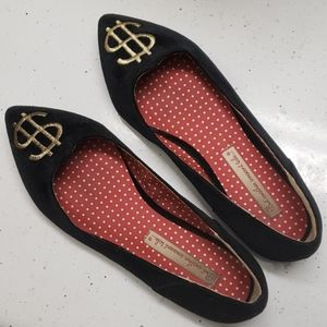 Shoes - Money Flats Dollar Signs Ballet Shoes